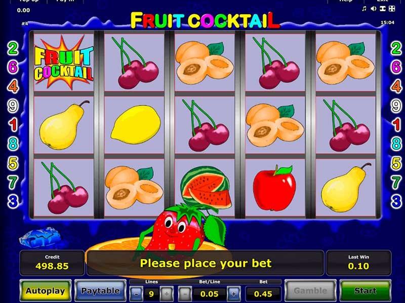 игровой автомат fruit cocktail бесплатно